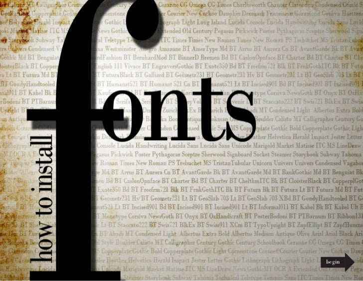 Install Fonts on Windows