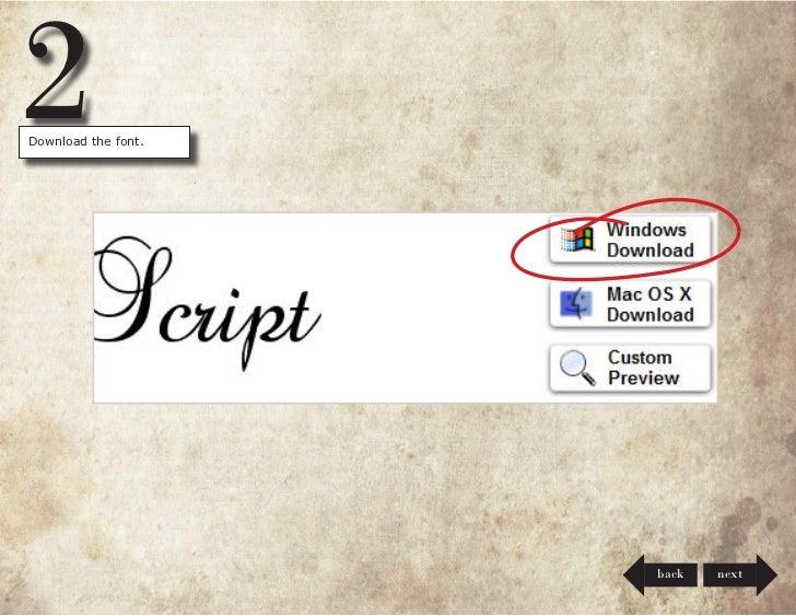 Install Fonts on Windows