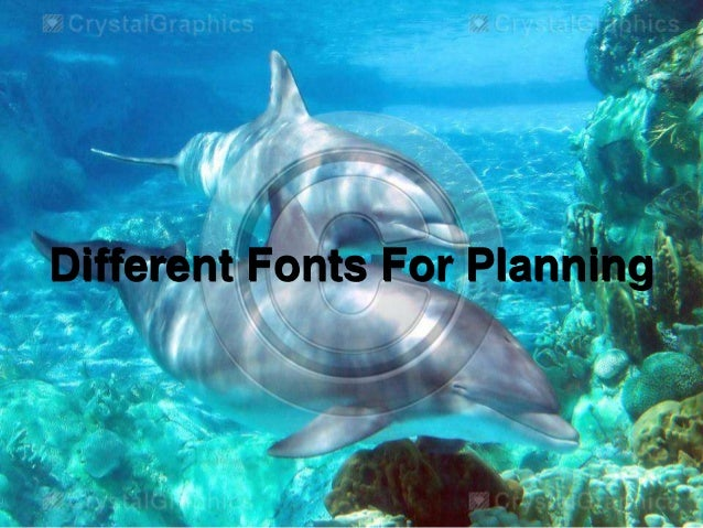 Different Fonts For Planning