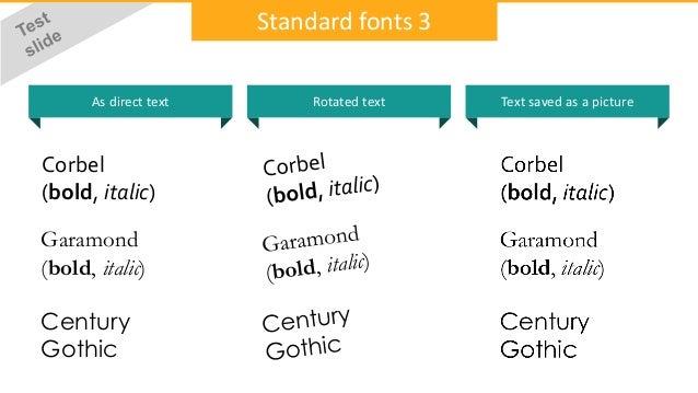 Font problem slideshare pdf ppt