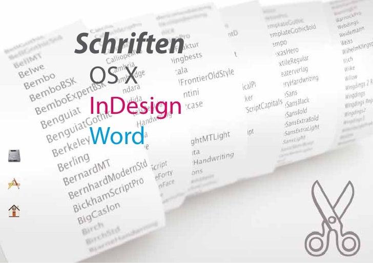 Schriften  OS X  InDesign  Word