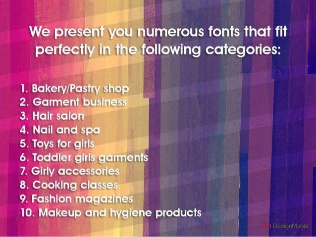 25 Festive Fonts For Women Oriented Businesses! Slide 3