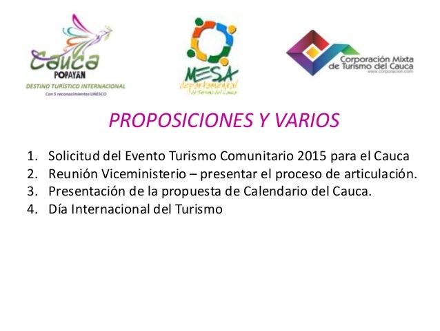 Sector turismo en el Cauca