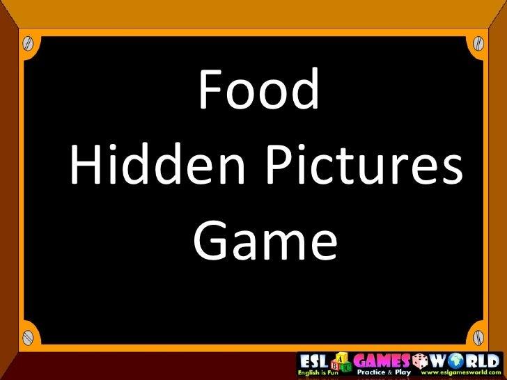 Food  Hidden Pictures Game
