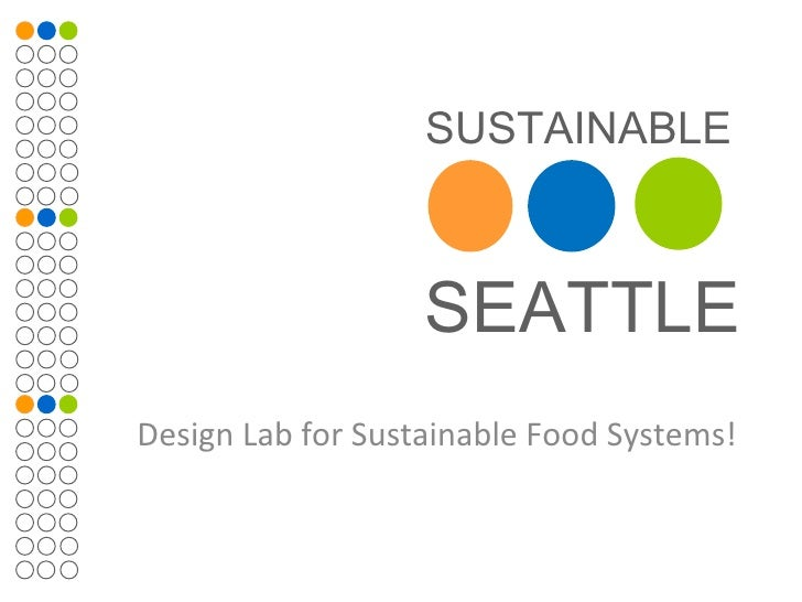 Design Lab for Sustainable Food Systems!