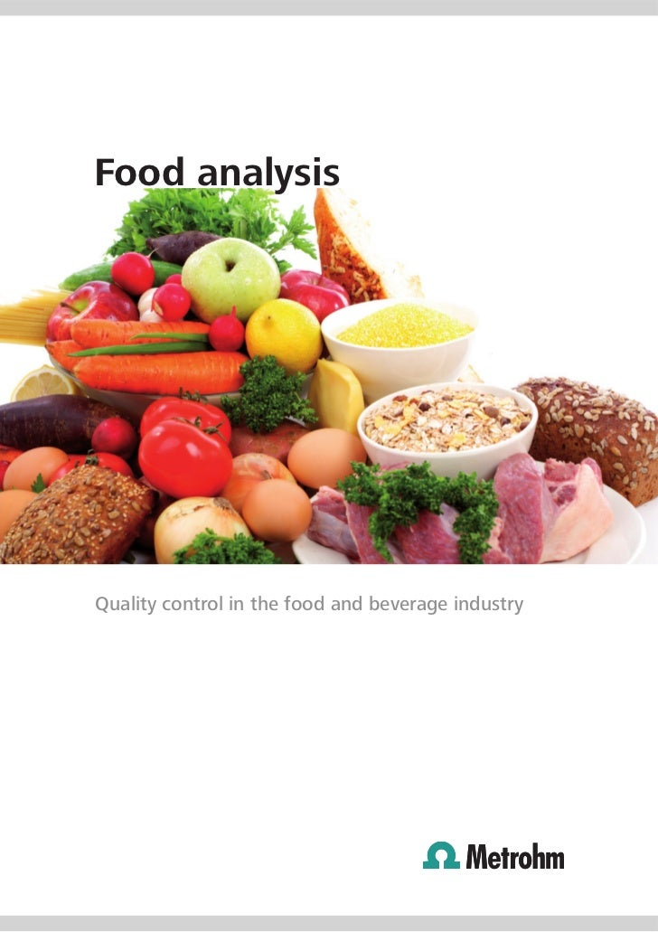 Food analysis by metrohm for Cuisine 728