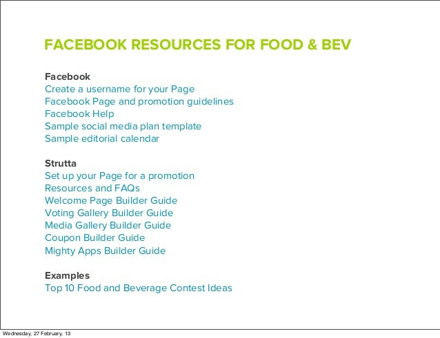 A Simple Facebook Marketing Guide For Food And Beverage Brands