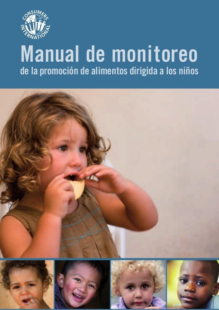 Manual de monitoreode la promoción de alimentos dirigida a los niños