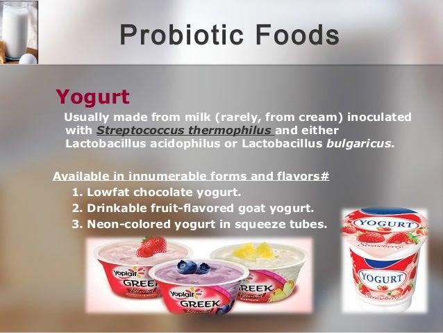 Lactobacillus acidophilus yogurt