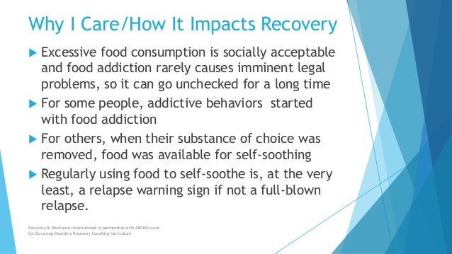 understanding food addiction Addiction exerts a long and powerful influence on  search harvard health  it took years for researchers and policymakers to arrive at this understanding.