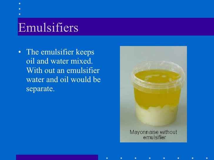 What Is A Natural Emulsifier For Food