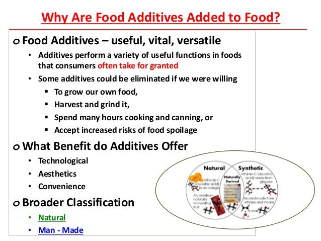 Food Additives List And Functions