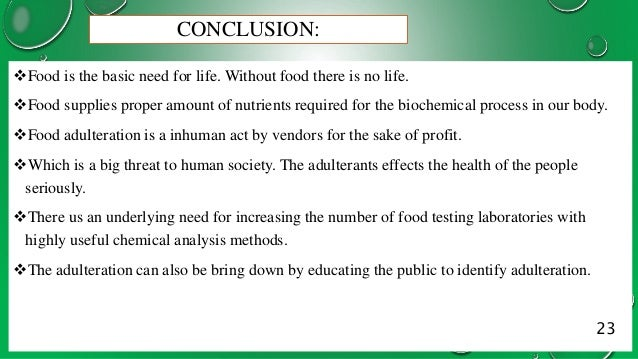 The Prevention of Food Adulteration Act, 1954 - Introduction