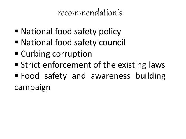 conclusion on food adulteration 2011-11-9 abstract abstract: food fraud, including the more defined subcategory of economically motivated adulteration, is a food risk that is gaining recognition and concern  regardless of the cause of the food risk, adulteration of food is both an industry and a government responsib.