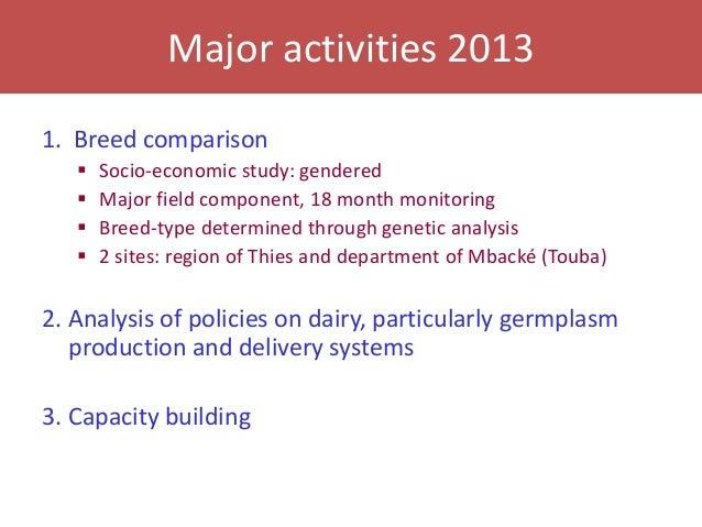 Senegal dairy genetics project: Work package 2 update Slide 3