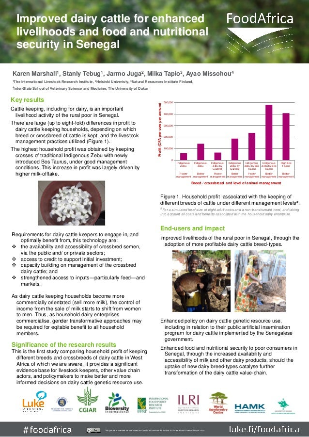 # Key results Cattle keeping, including for dairy, is an important livelihood activity of the rural poor in Senegal. There...