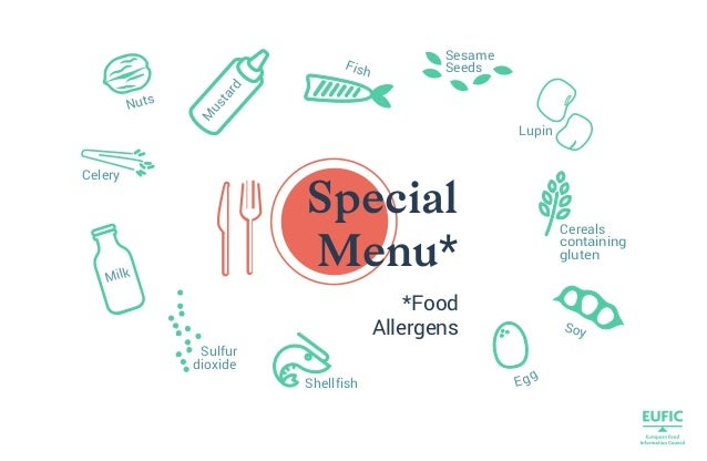 *Food Allergens Egg Fish Milk Cereals containing gluten Lupin Celery Sesame Seeds Nuts Shellfish Sulfur dioxide Special Me...