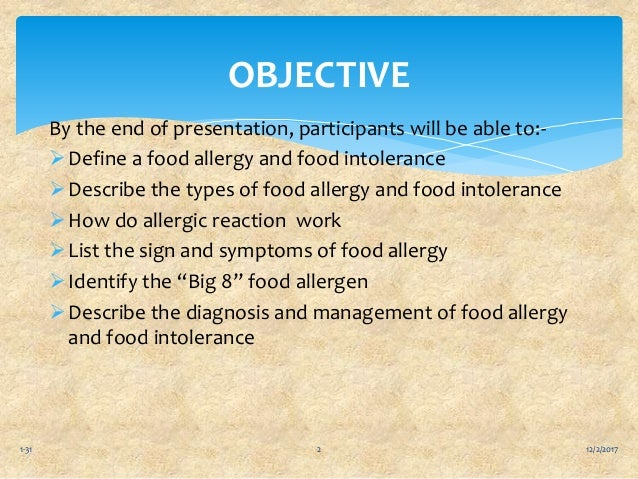 Food allergies and food intolerances ppt Slide 2