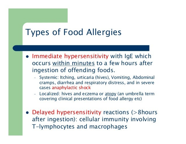 Food Allergies Natural Approach