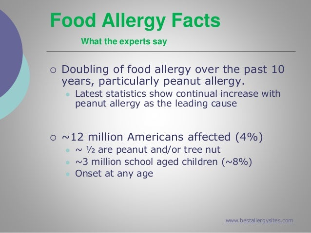 the impact of food allergy on Food allergies affect 4 to 6 percent of children and 4 percent of adults learn about the types of food allergies, symptoms, diagnosis and treatment here.