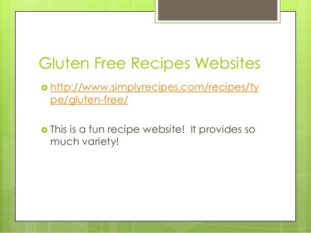 Food allergy presentation 7 gluten free recipes websites forumfinder Image collections