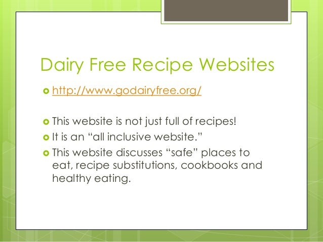 Food allergy presentation dairy free recipe website 9 forumfinder Image collections