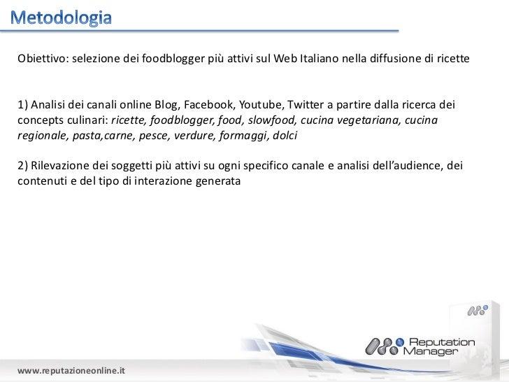 Foodblogger e social influence: un'analisi dello scenario online Slide 2