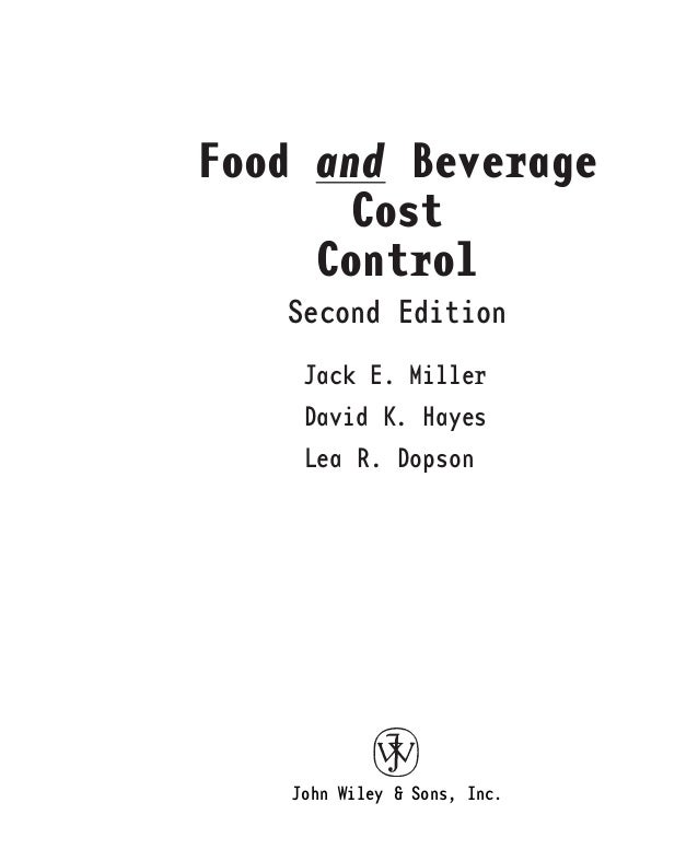 food and beverage control system The expense to a business for food, incurred when food is consumed eg of employees necessary to run the business, which includes salaries, wages and employee benefits eg epf, socso, healthcare insurance, paid leave.