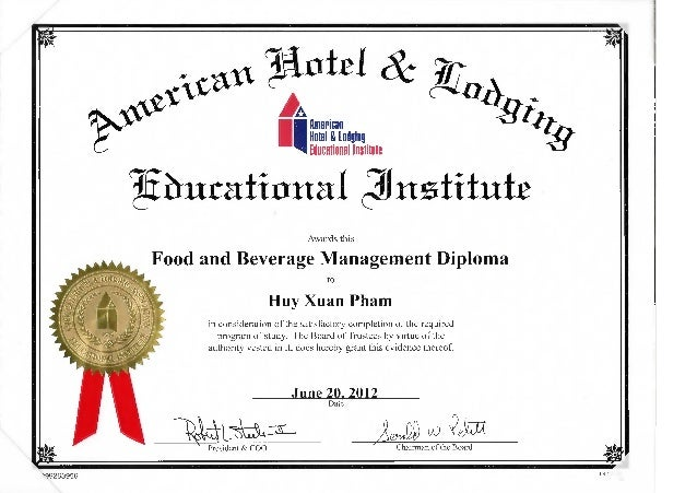 and beverage management diploma food and beverage management diploma