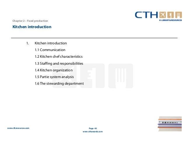 Restaurant Kitchen Organization Chart