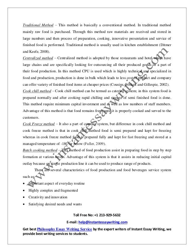 Service operation management essay