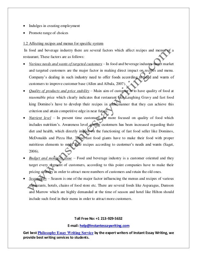 food and beverage operation management essay About wikiwealthcom wikiwealthcom is a collaborative research and analysis website that combines the sum of the world's knowledge to produce the highest quality research reports for over 6,000 stocks, etfs, mutual funds, currencies, and commodities.