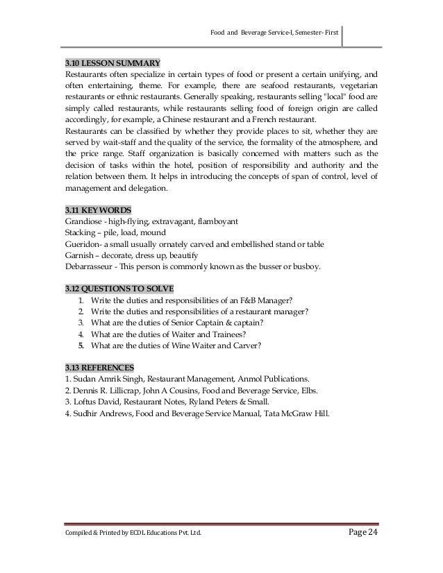 Food And Beverage Service Training Manual Sudhir Andrews Pdf border=