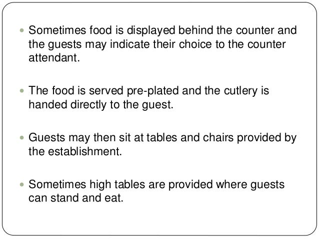 TRAY SERVICE  Method of service of whole or part of meal on tray to customer in situ, e.g. hospitals aircraft or railway ...