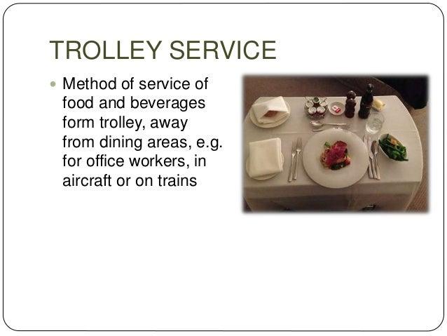 Food and beverage service methods