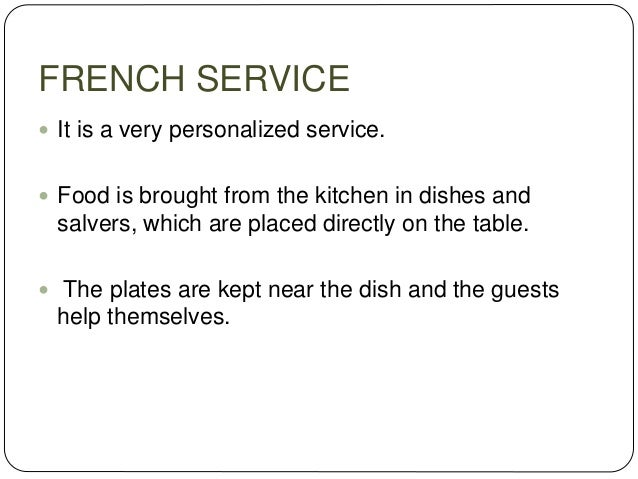 Food And Beverage Service Methods For Soup
