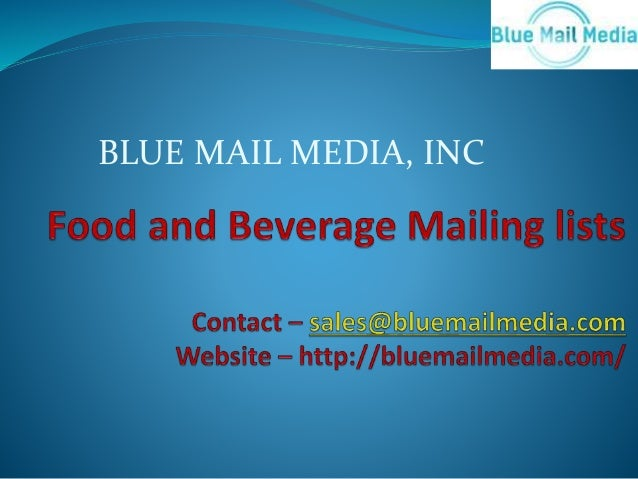 Food and breverage mailing list