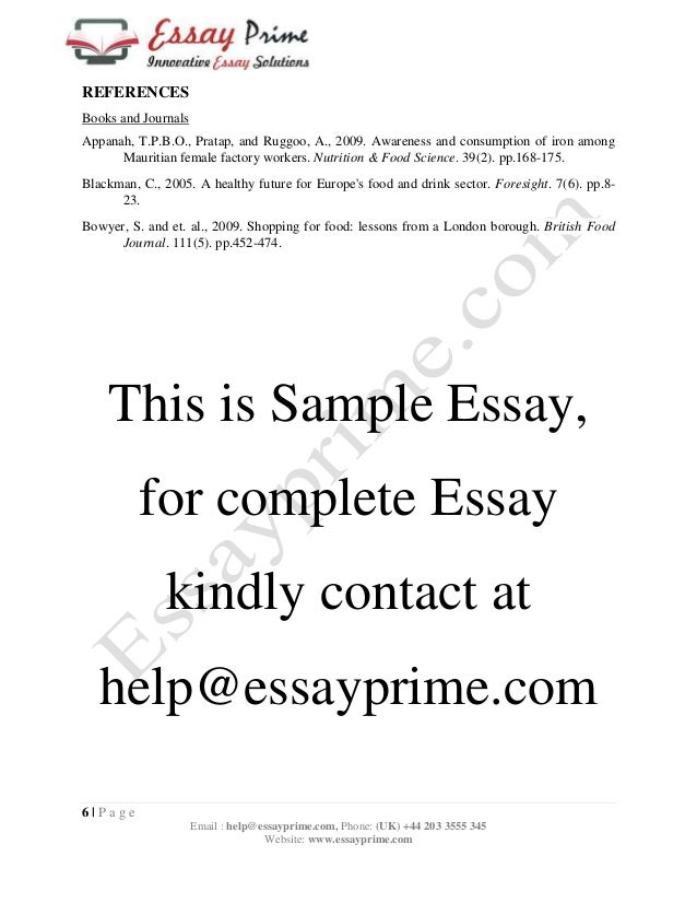 food and health essay sample 8