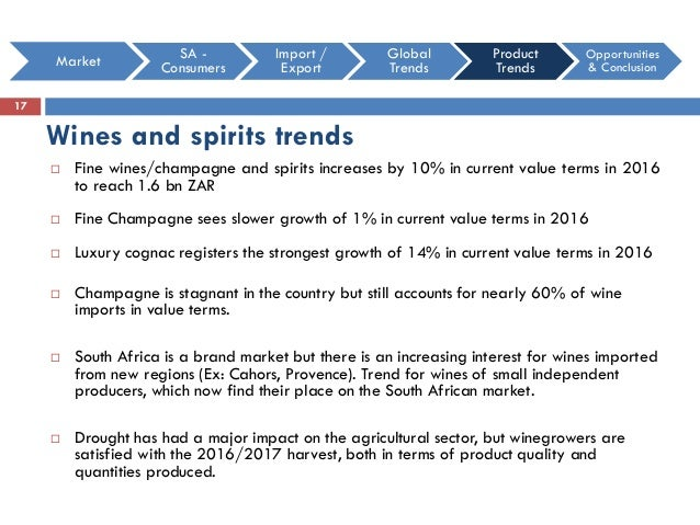 Food and wine trends in South Africa in 2016 & 2017