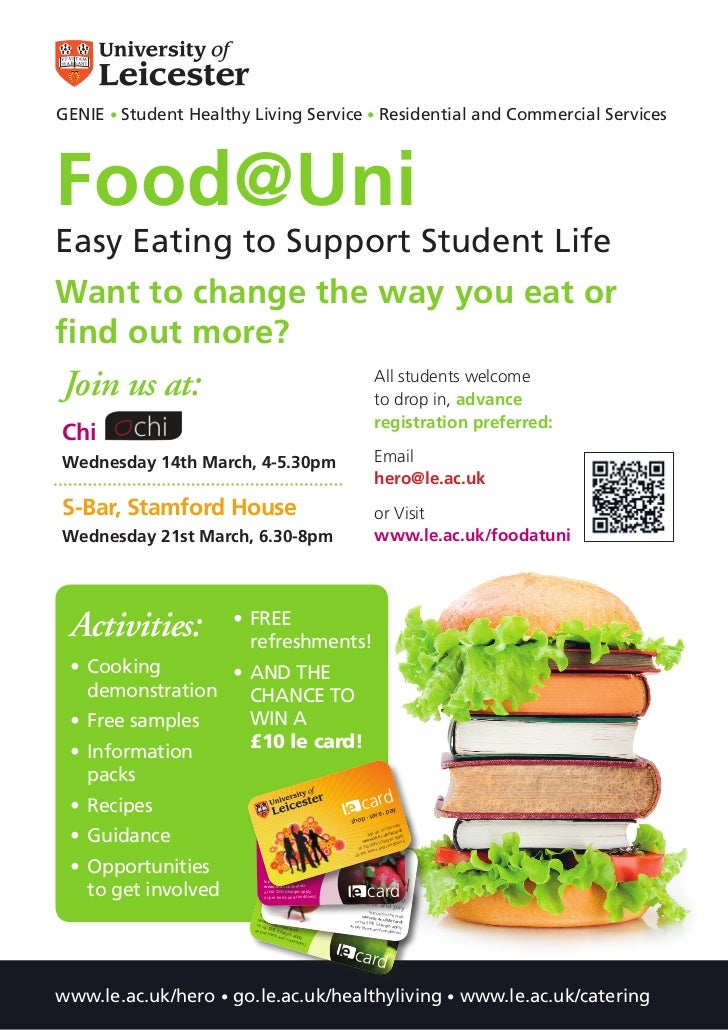 GENIE • Student Healthy Living Service • Residential and Commercial ServicesFood@UniEasy Eating to Support Student LifeWan...