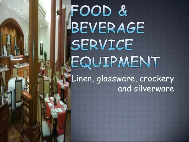 Food And Beverage Service Wikipedia