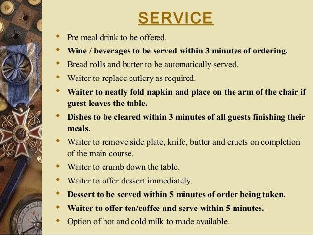 Room Service Procedure Script