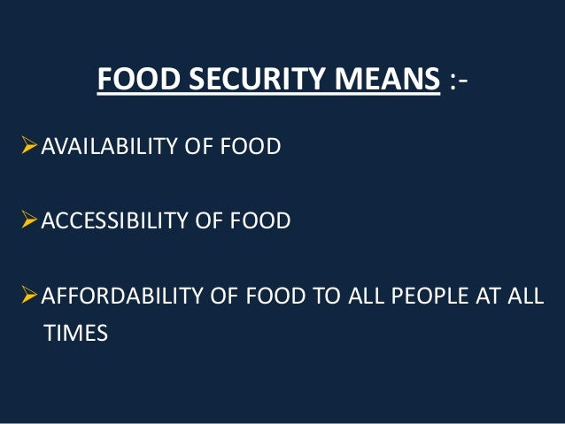 Image result for food security means