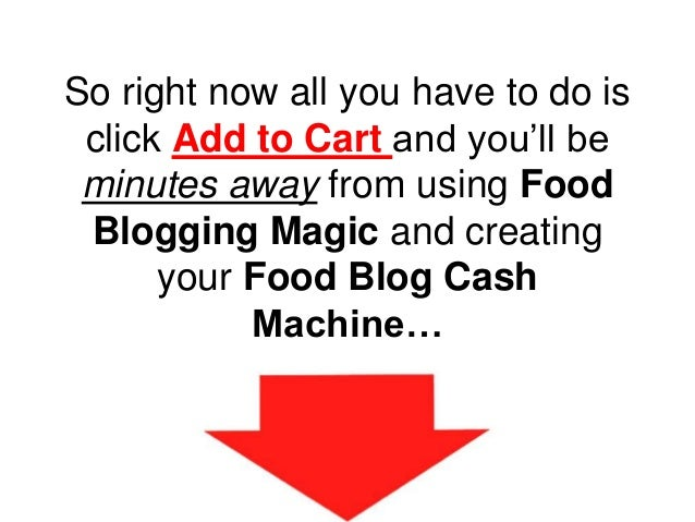 So right now all you have to do is click Add to Cart and you'll be minutes away from using Food Blogging Magic and creatin...