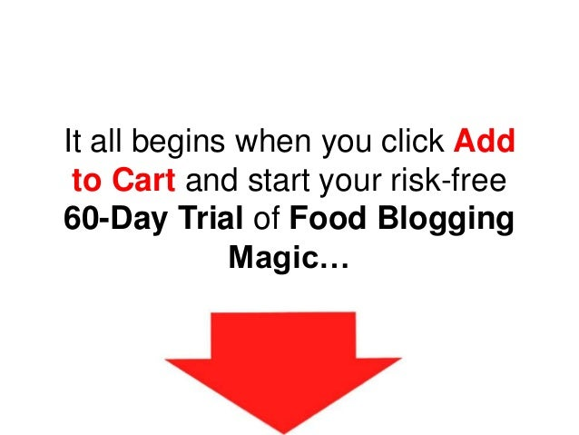 It all begins when you click Add to Cart and start your risk-free 60-Day Trial of Food Blogging Magic…
