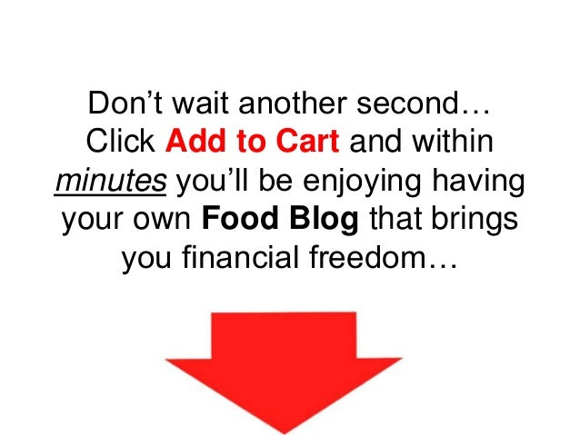Don't wait another second… Click Add to Cart and within minutes you'll be enjoying having your own Food Blog that brings y...