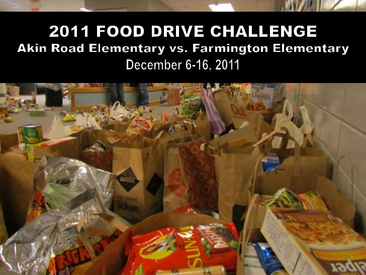 Akin Road students kept a steady stream of food items coming in.       Those boxes back behind are also filled with food.