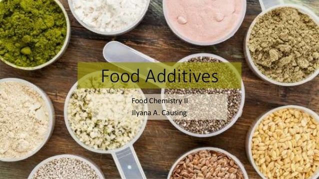 what are food additives pdf