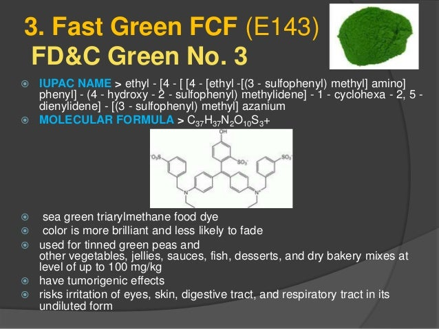 Synthetic Food coloring