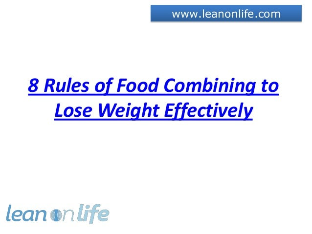 Food Combinations Lose Weight Fast - diveposts
